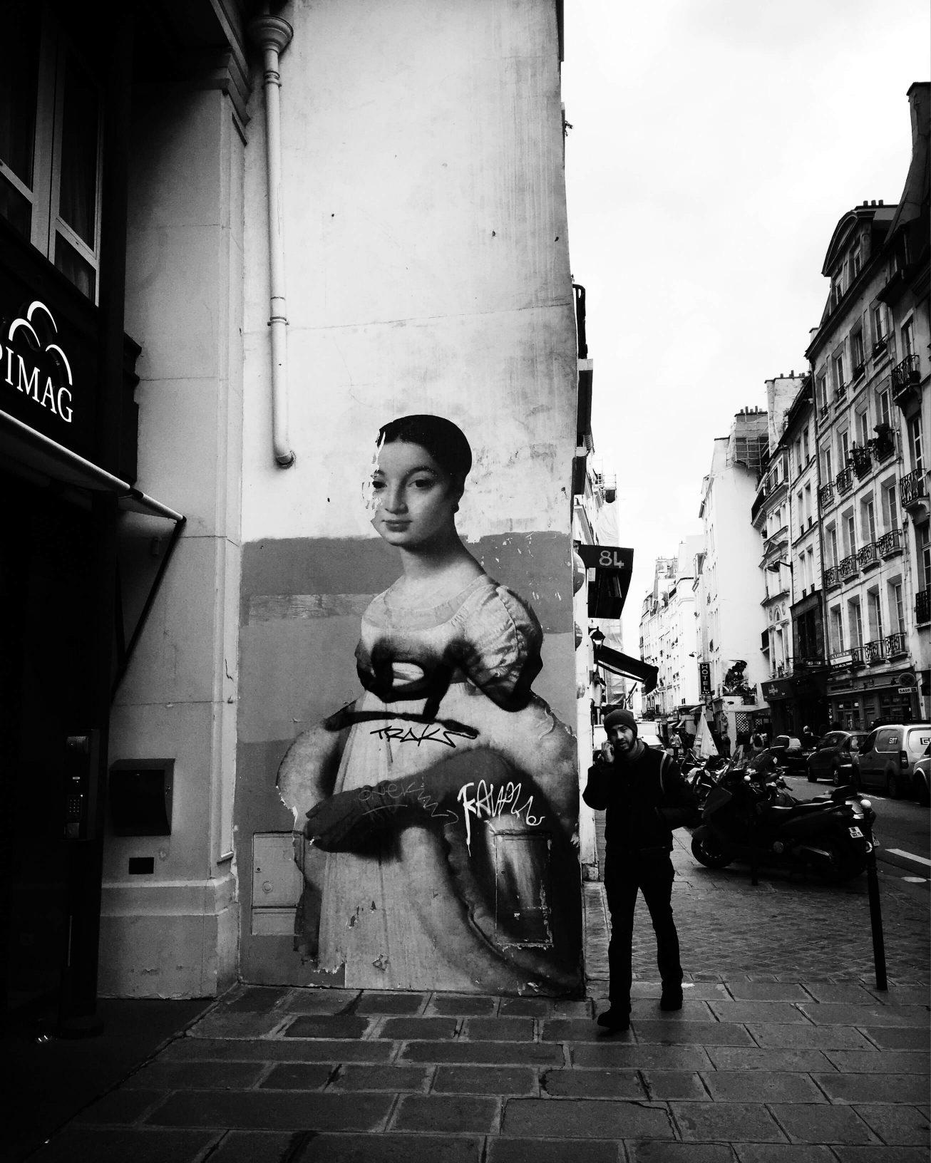 Rue Saint-Honoré  - Paris - Oeuvre de Julien de Casabianca - Automne 2016