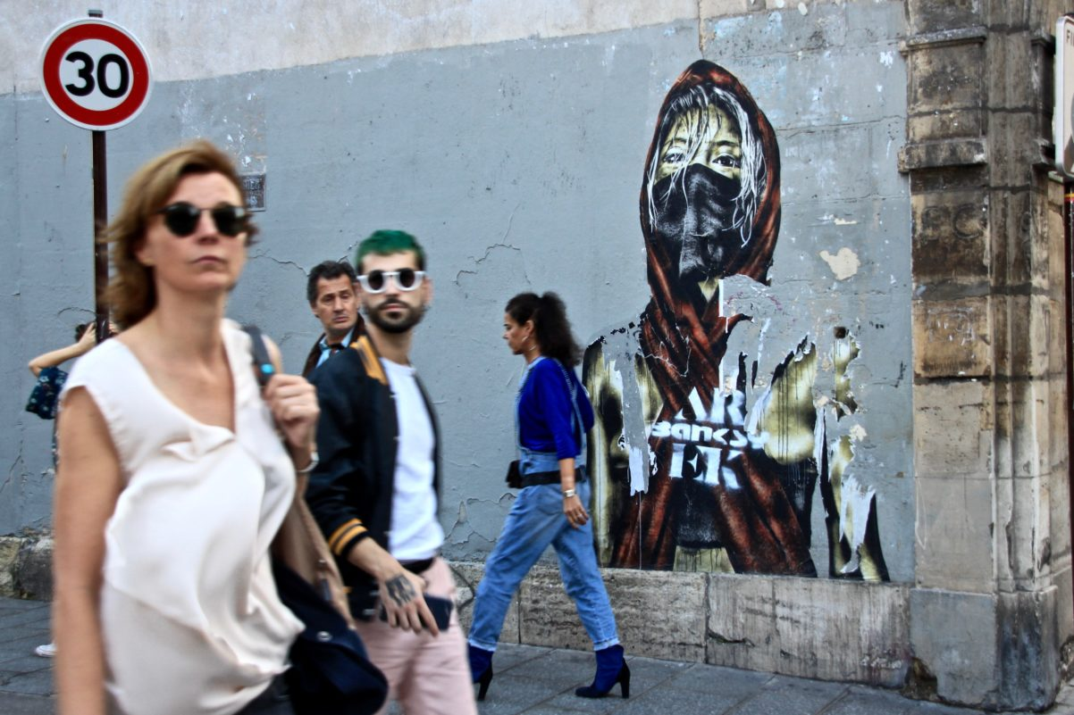 Oeuvre du street artist Eddie Colla - Marais, Paris - Octobre 2017